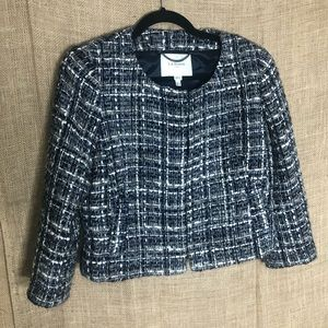 LK Bennett Blazer 12 Tweed Boucle Jacket Blue